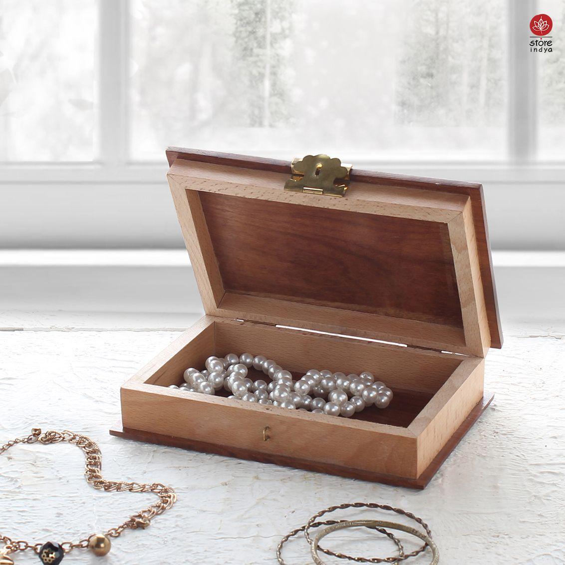 Amazon Ca Store Indya Handcrafted Wooden Book Jewellery Storage Keepsake Trinket Box With Brass Latch Wooden Jewelry Wooden Jewelry Boxes Book Jewelry