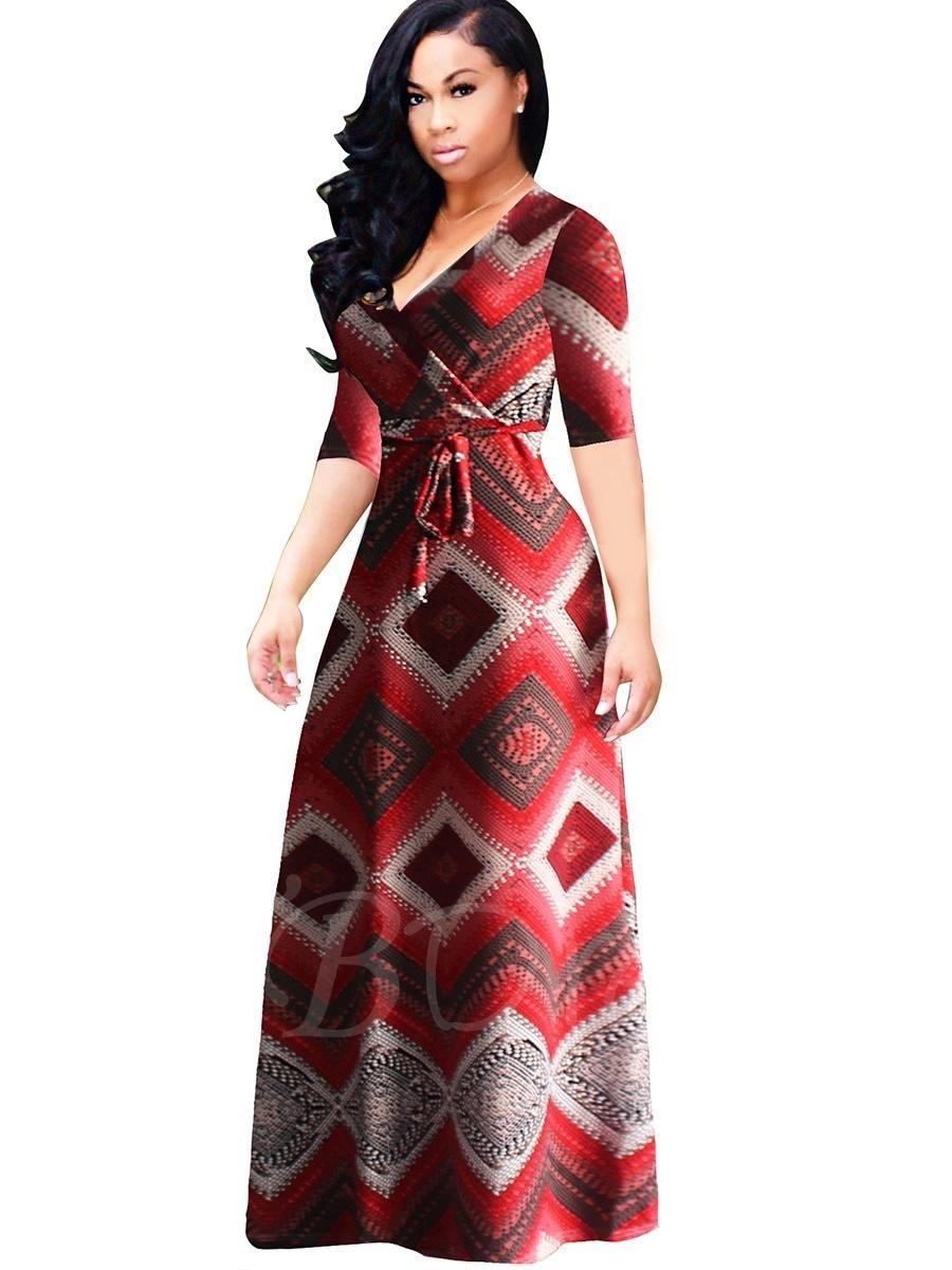 Tbdress tbdress plaid plus size half sleeve womens maxi dress