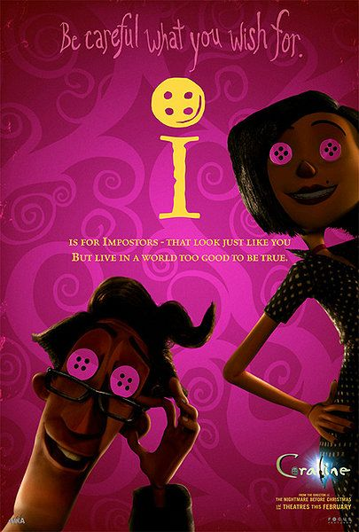 Coraline Alphabet Posters Via Rotten Tomatoes Coraline Movie Coraline Coraline Quotes