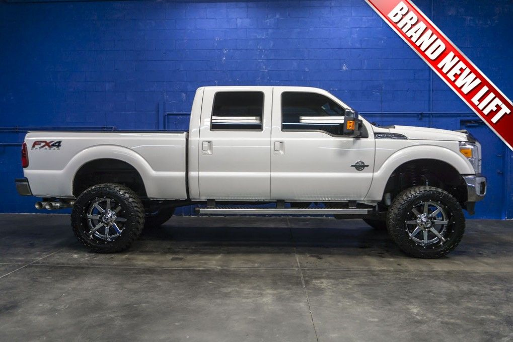 BIG Lifted 2015 Ford F-350 Lariat 4x4 Powerstroke Diesel Truck For ...