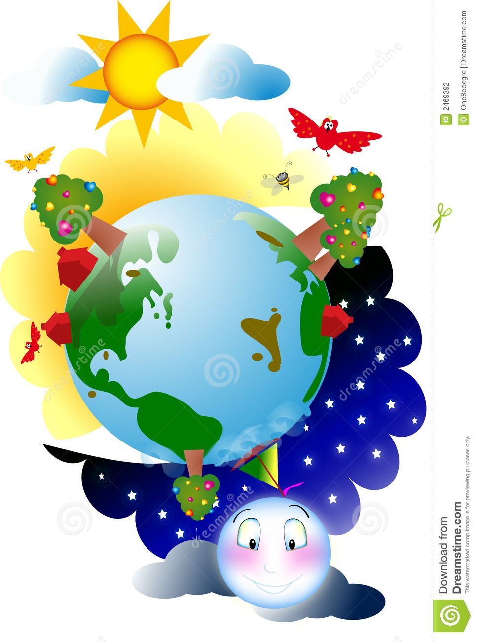 Creation Of Day And Night Stock Photography Image 2469392 Earth Day Clip Art Image Photography Kids Background