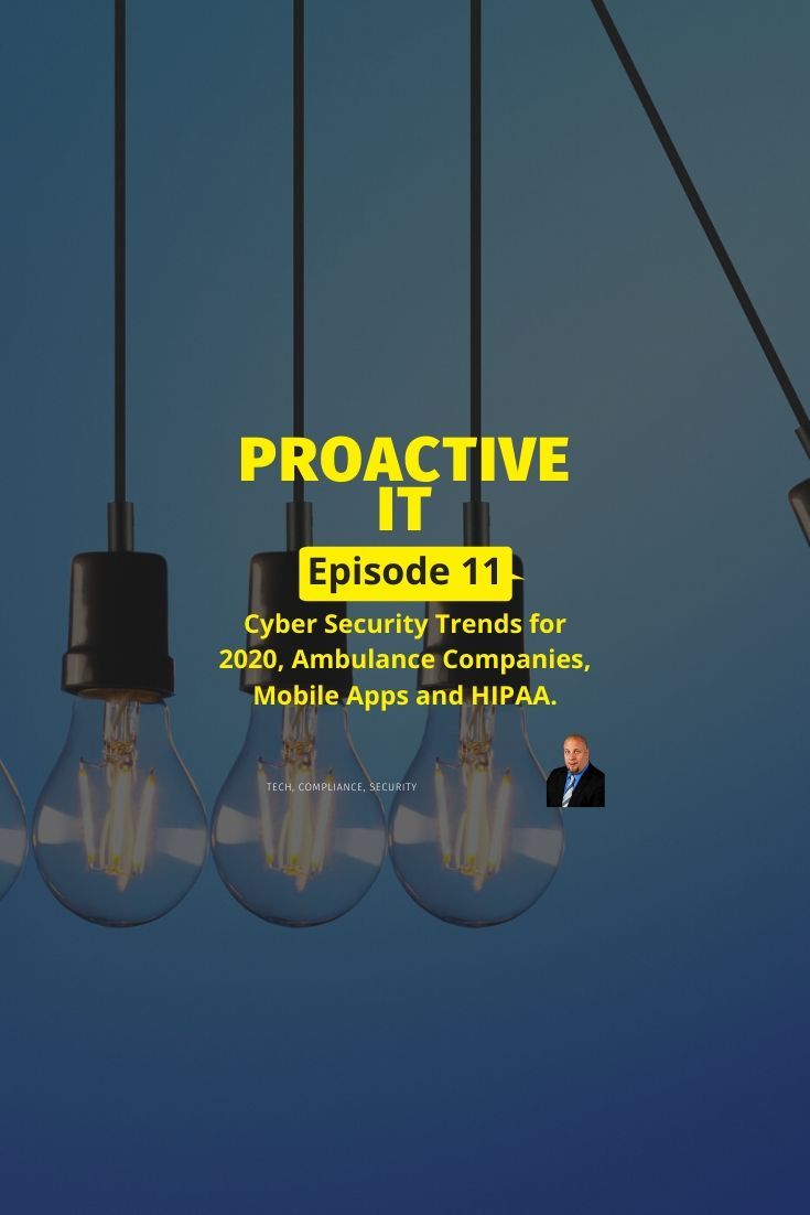 Episode 11 of the proactiveit podcast cyber security