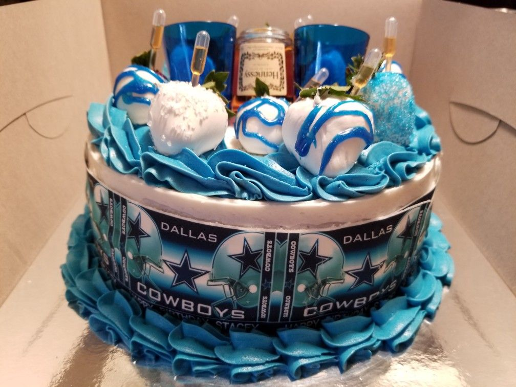 Stupendous Favorite Team And Drink Birthday Cake Dallas Cowboys And Funny Birthday Cards Online Alyptdamsfinfo