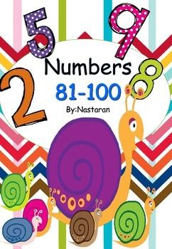 Numbers 81 100 Includes 36 Practice Sheets Each Practice Sheet Allows For Students To Practice Reading T Elementary Teaching Resources Math For Kids Math Books