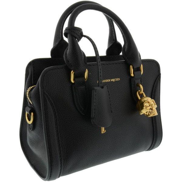Alexander Mcqueen Bags 780 Liked On Polyvore Featuring Handbags Black Skull Bag Purse Handbag And
