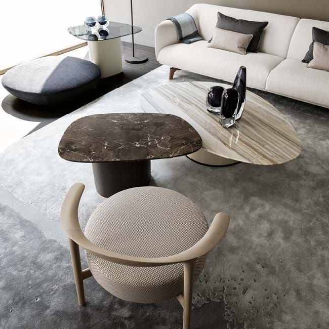 Moonshadow Rugs Bed in living room, Living room chairs
