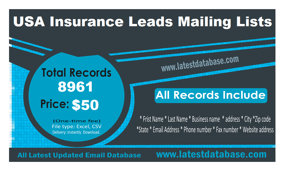 Usa Insurance Leads In 2020 Email Marketing Lists Email List
