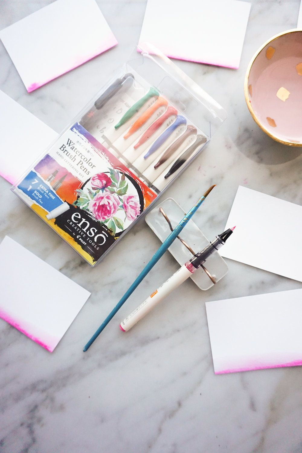 Diy Watercolor Dip Place Cards The Easy Way Pilot Pens