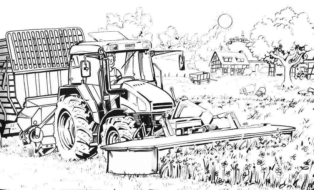Kleurplaat Tractor Fendt • Kidkleurplaat.nl