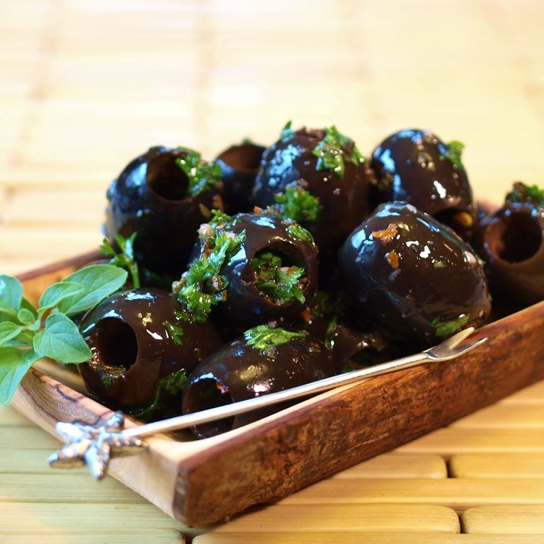 Marinated Black Olives