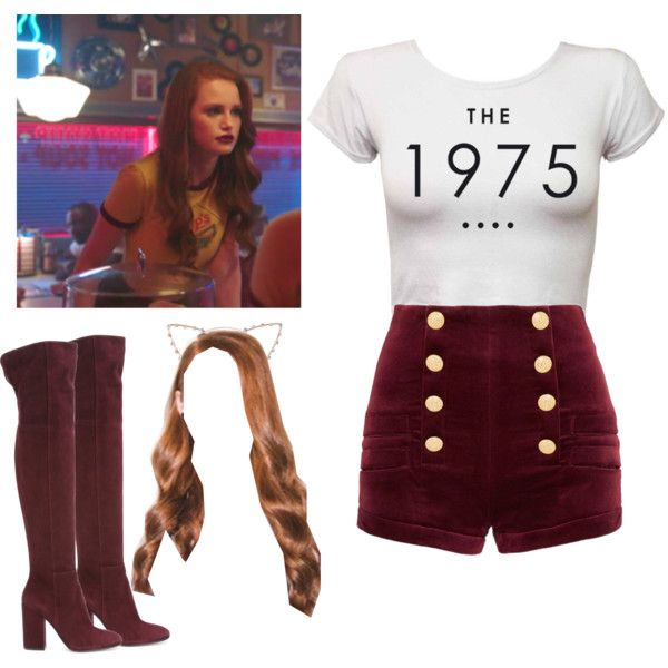 Cheryl Blossom // Riverdale by demiwitch-of-mischief on Polyvore featuring Gianvito Rossi and Cara