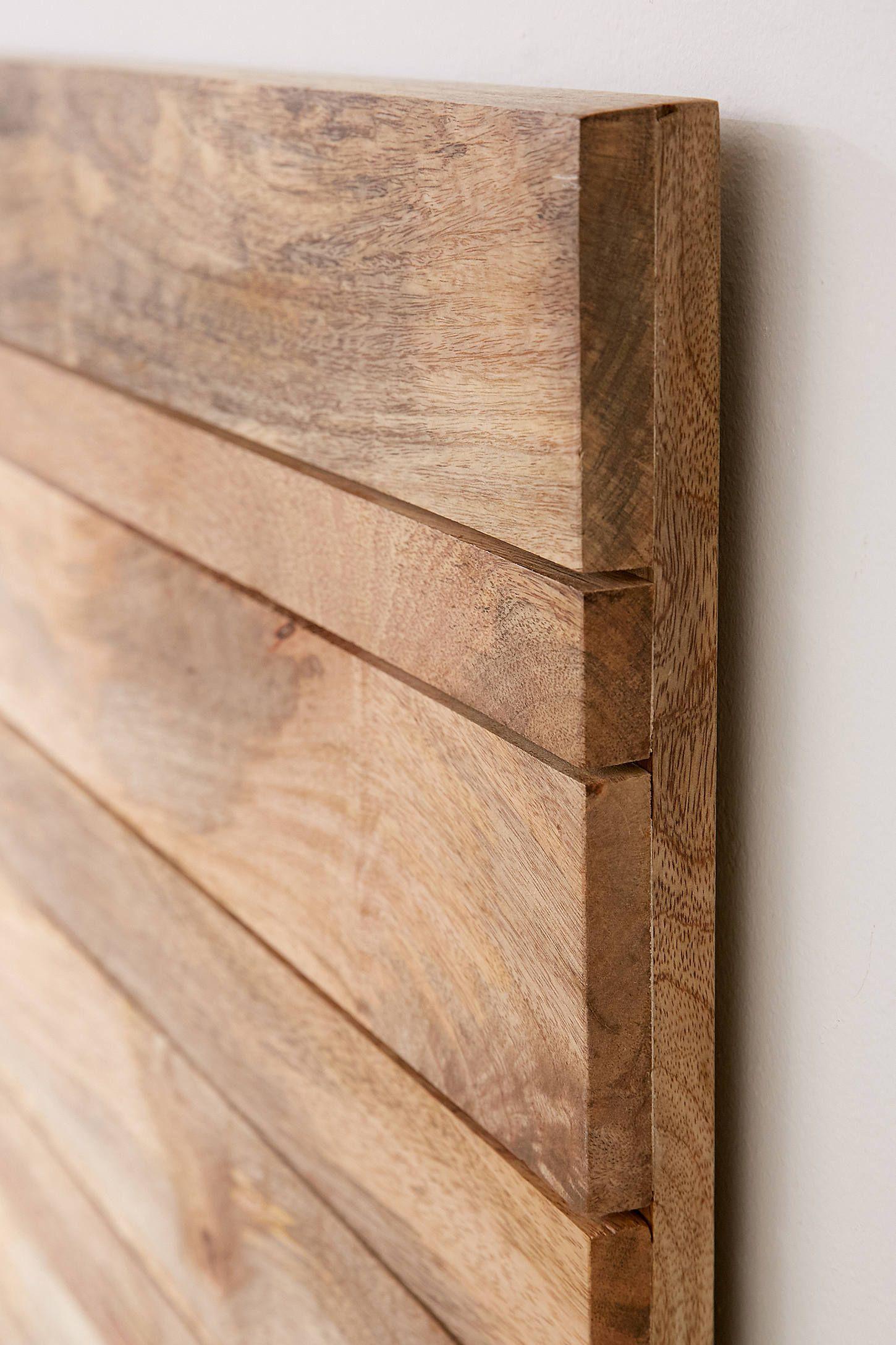 Slatted Wooden Headboard