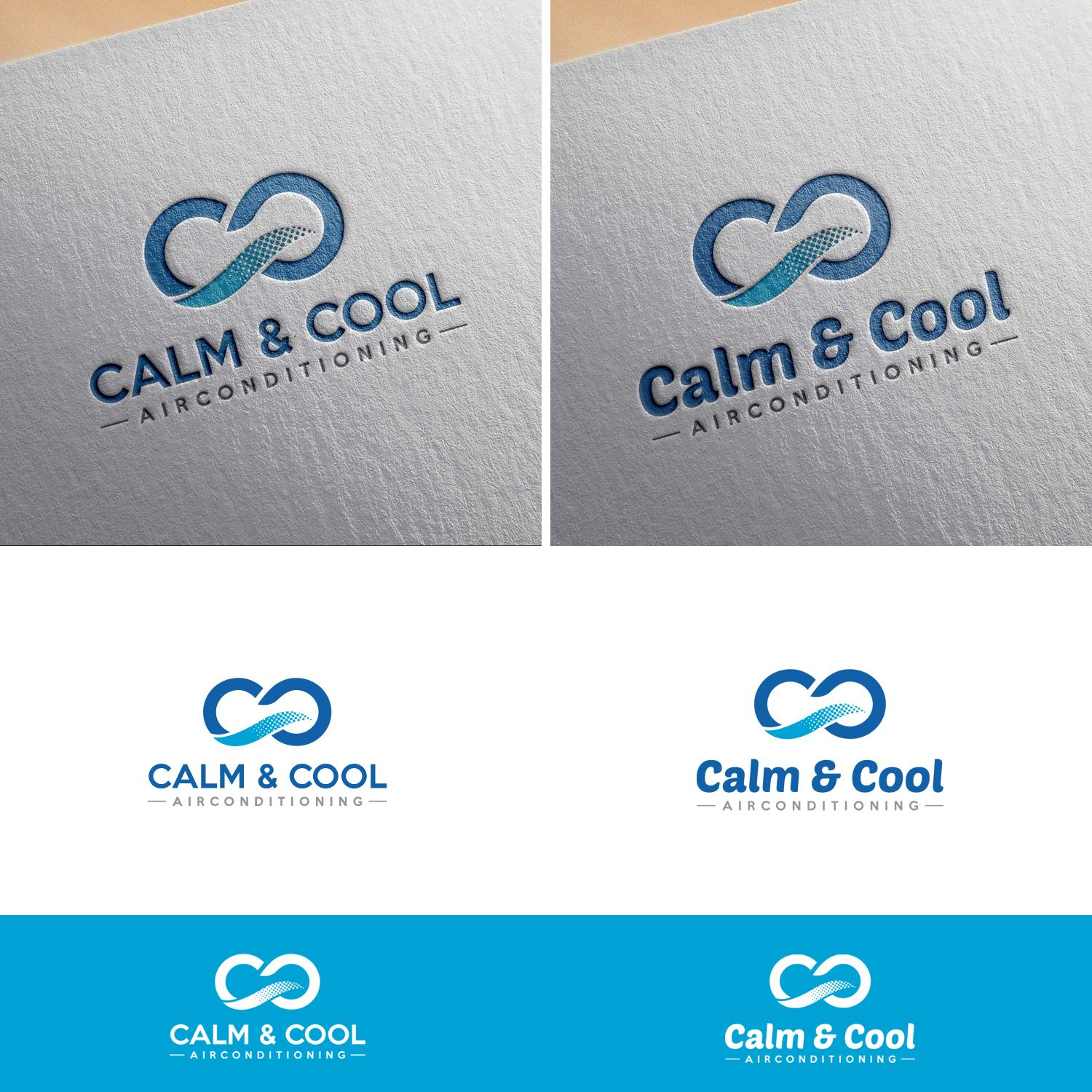 Calm And Cool Airconditioning Company Logo Modern Professional