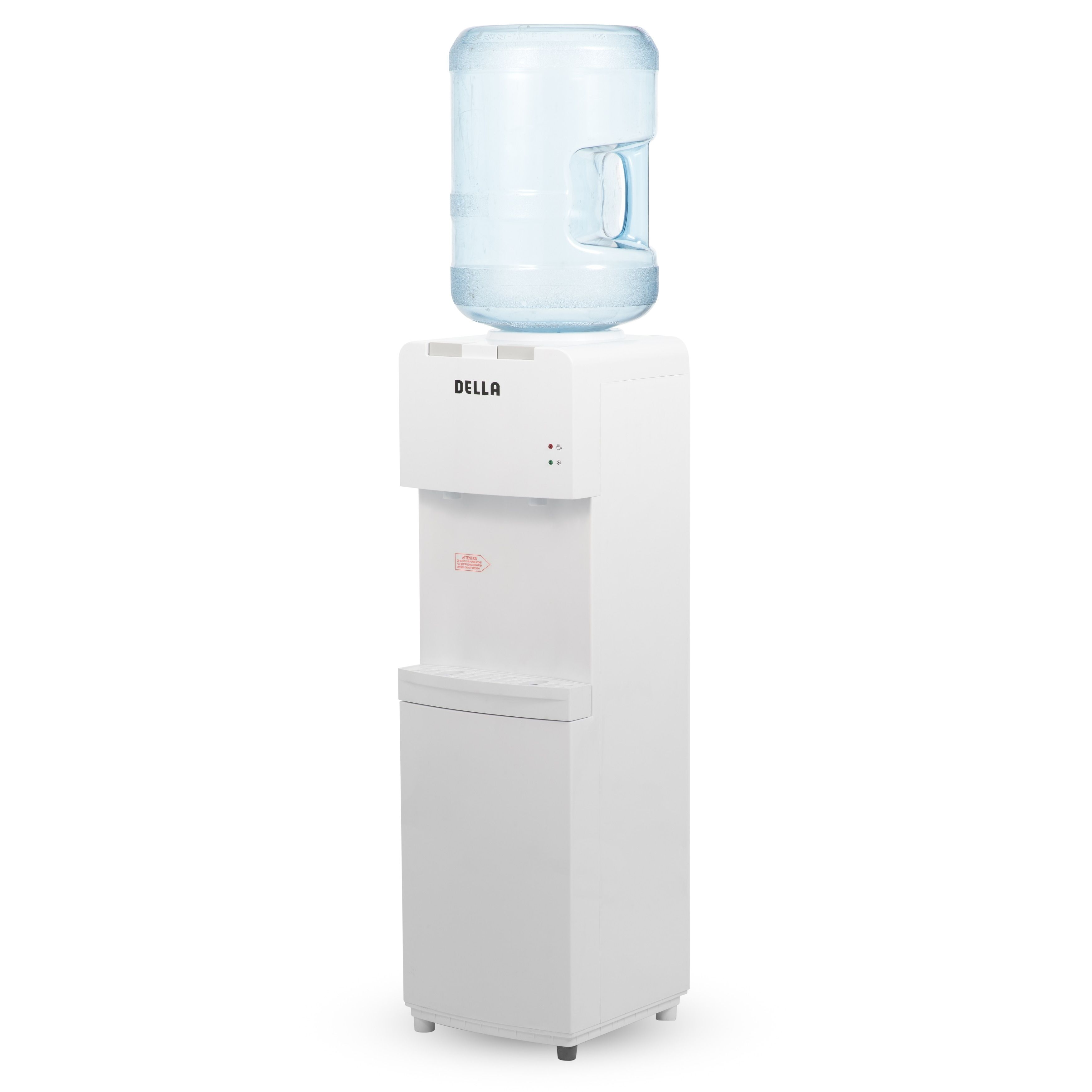 Della Water Dispenser Fresh Clean Easy To Use Cooler And Hot Water Push Button For Home Or Office White Water Dispenser Water Coolers Cooler Stand