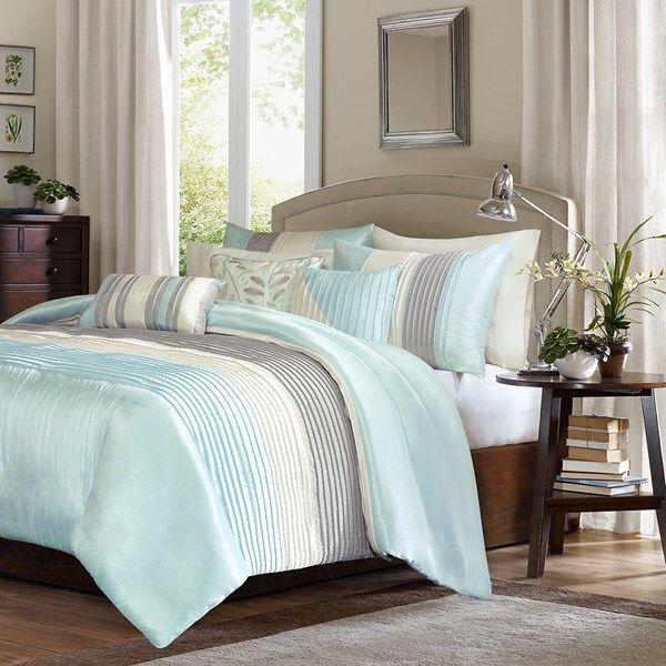 Madison Park Amherst King 6 Piece Duvet Cover Set In Aqua Olliix Mp12 2983 In 2021 Comforter Sets Home Decor King Comforter Sets