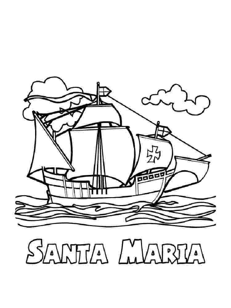 Coloring Festival Columbuss Ship Coloring Pages More Than 25