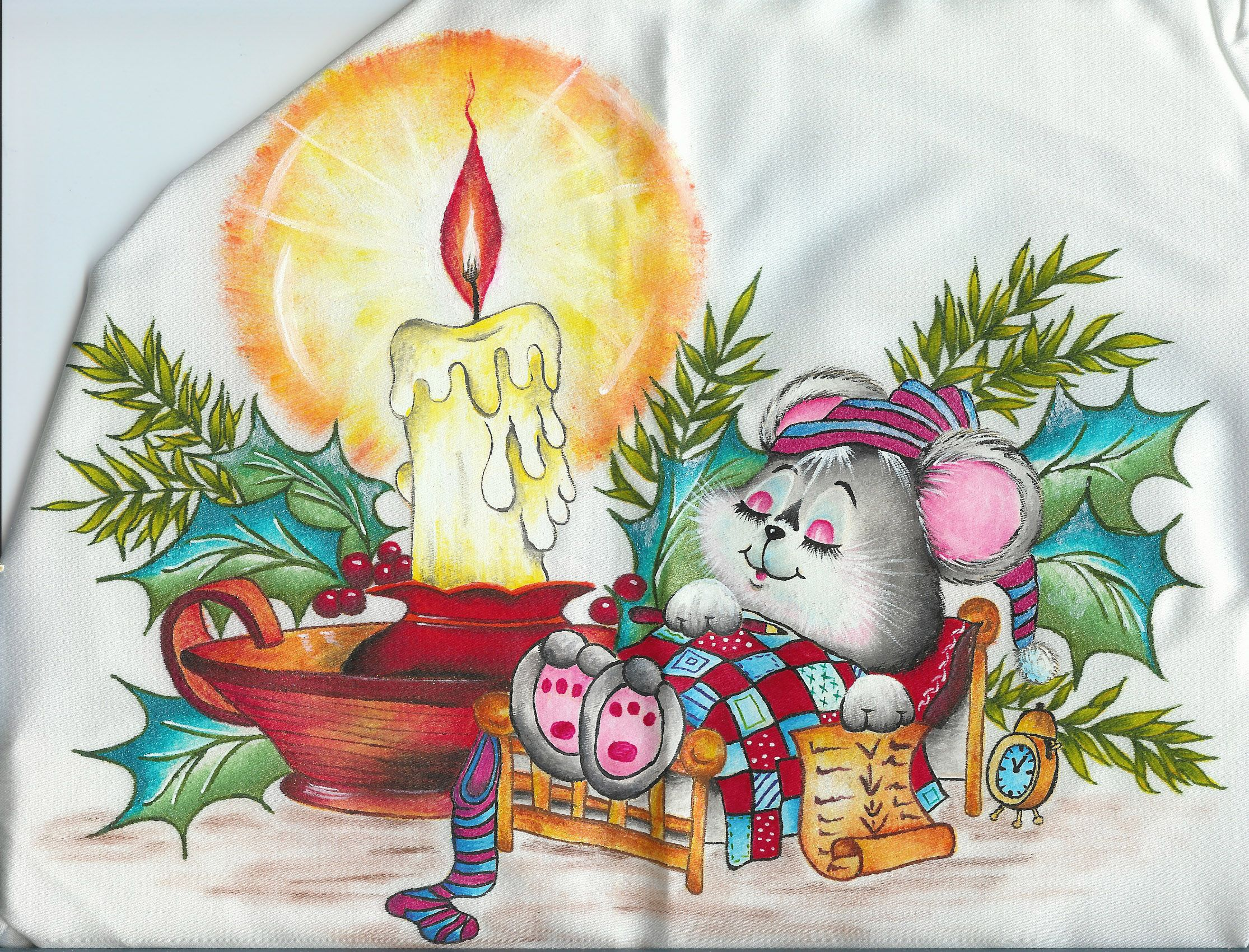 Pintura en tela navidad mis manualidades - Dibujos para pintar en tela infantiles ...