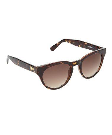 Look what I found on #zulily! Dark Tortoise Oval Sunglasses by Cole Haan #zulilyfinds