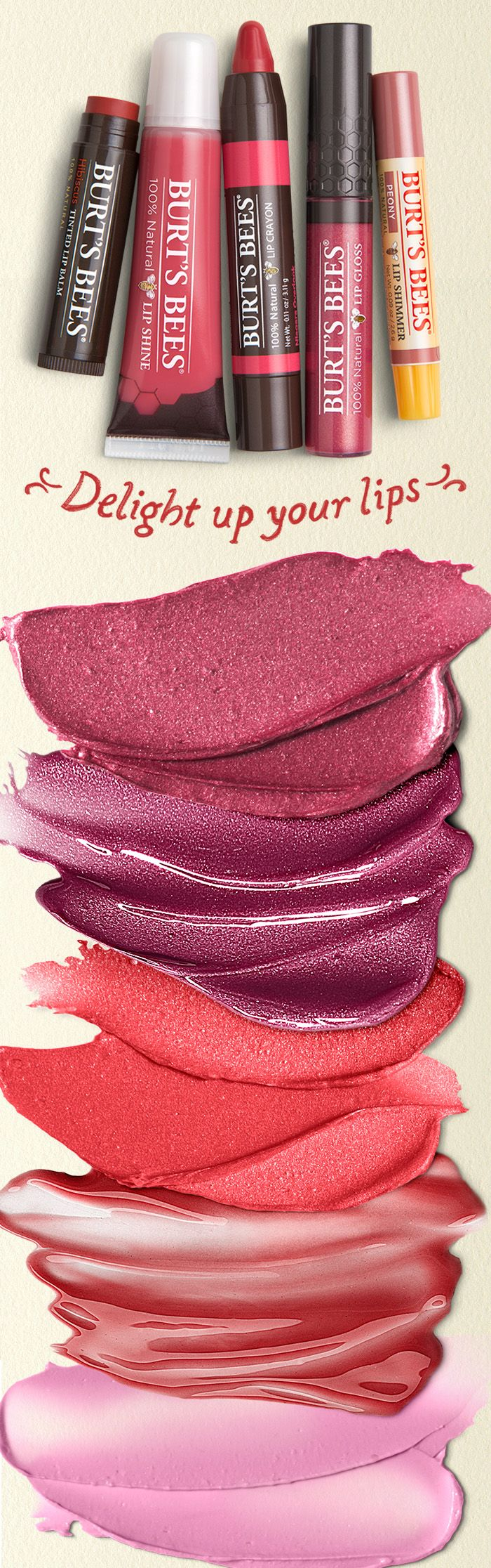 From sheer to shiny, tint to matte, nature is delighting up lips with 5 lines and over 50 perfect shades of pink, red, and neutral lip color for fair skin, dark skin, and every skin.