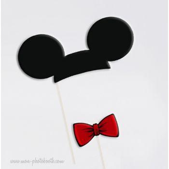 oreilles de souris et noeud photobooth accessoires mickey mouse souris et noeud. Black Bedroom Furniture Sets. Home Design Ideas