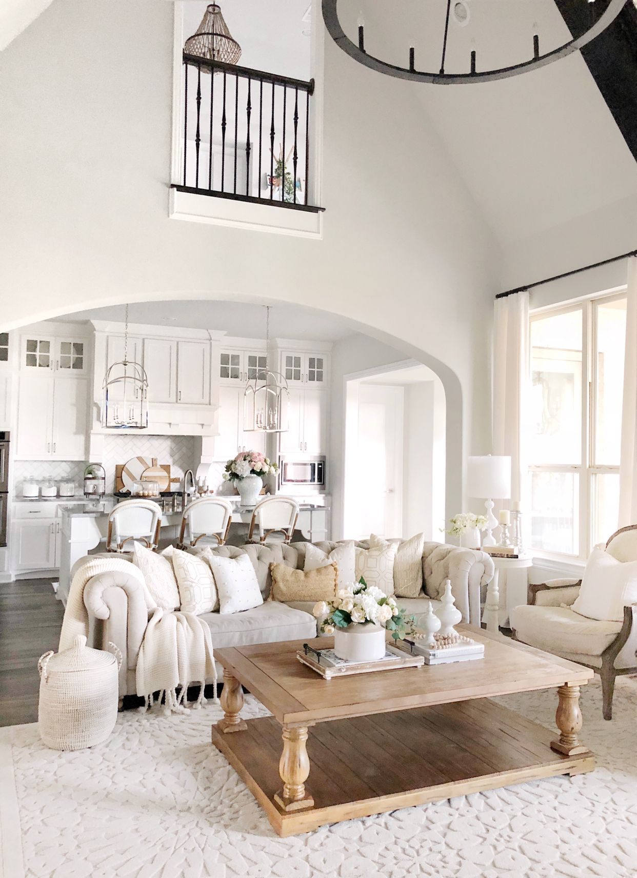 Kitchen And Living Room Updates Mytexashouse Farm House Living Room Home Home Living Room #updating #living #room #ideas