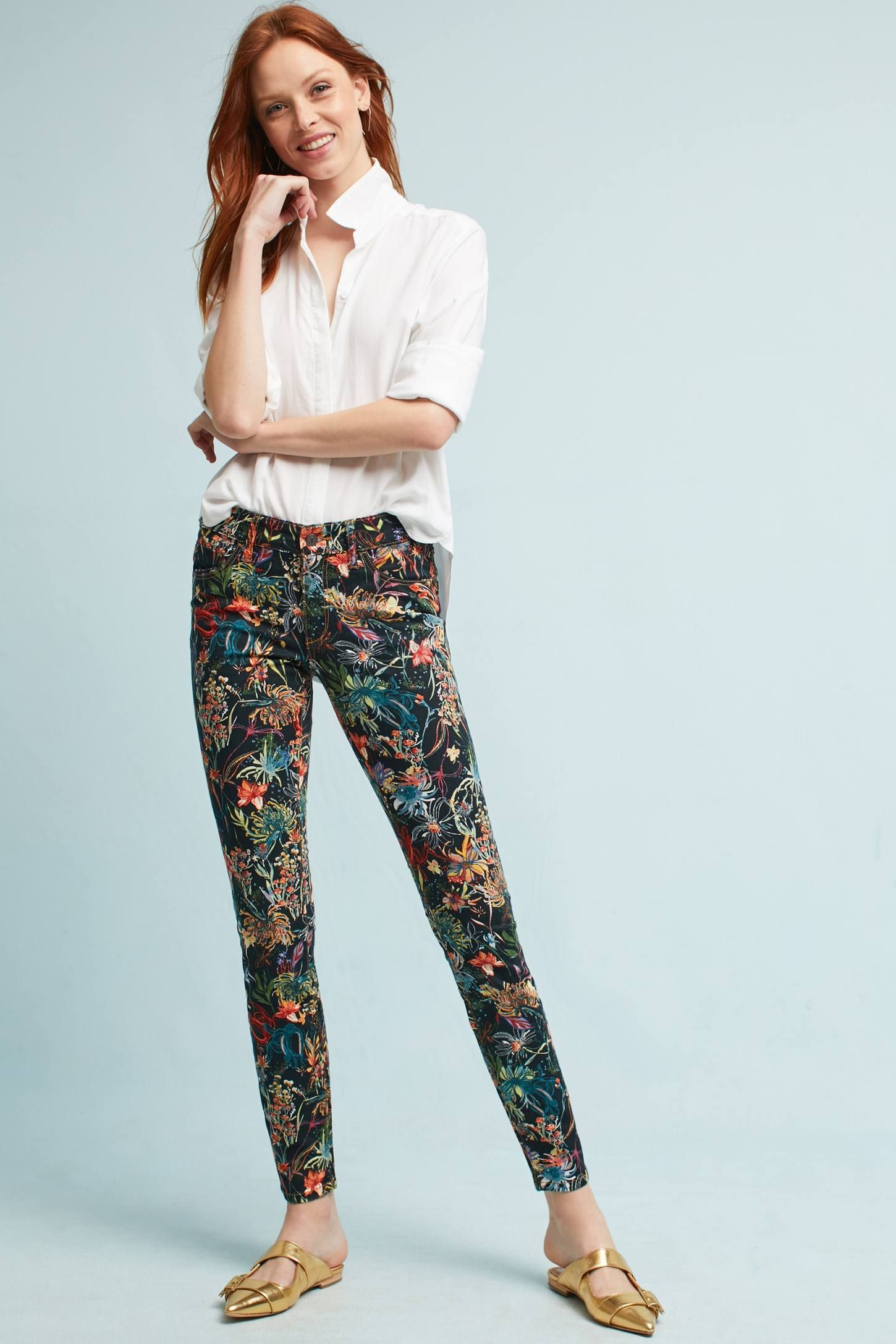 Pilcro Mid Rise Skinny Ankle Jeans   Anthropologie clothing
