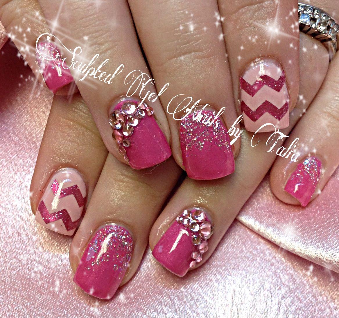 Chevron nail art | Nails | Pinterest | Chevron nail art, Nail nail ...
