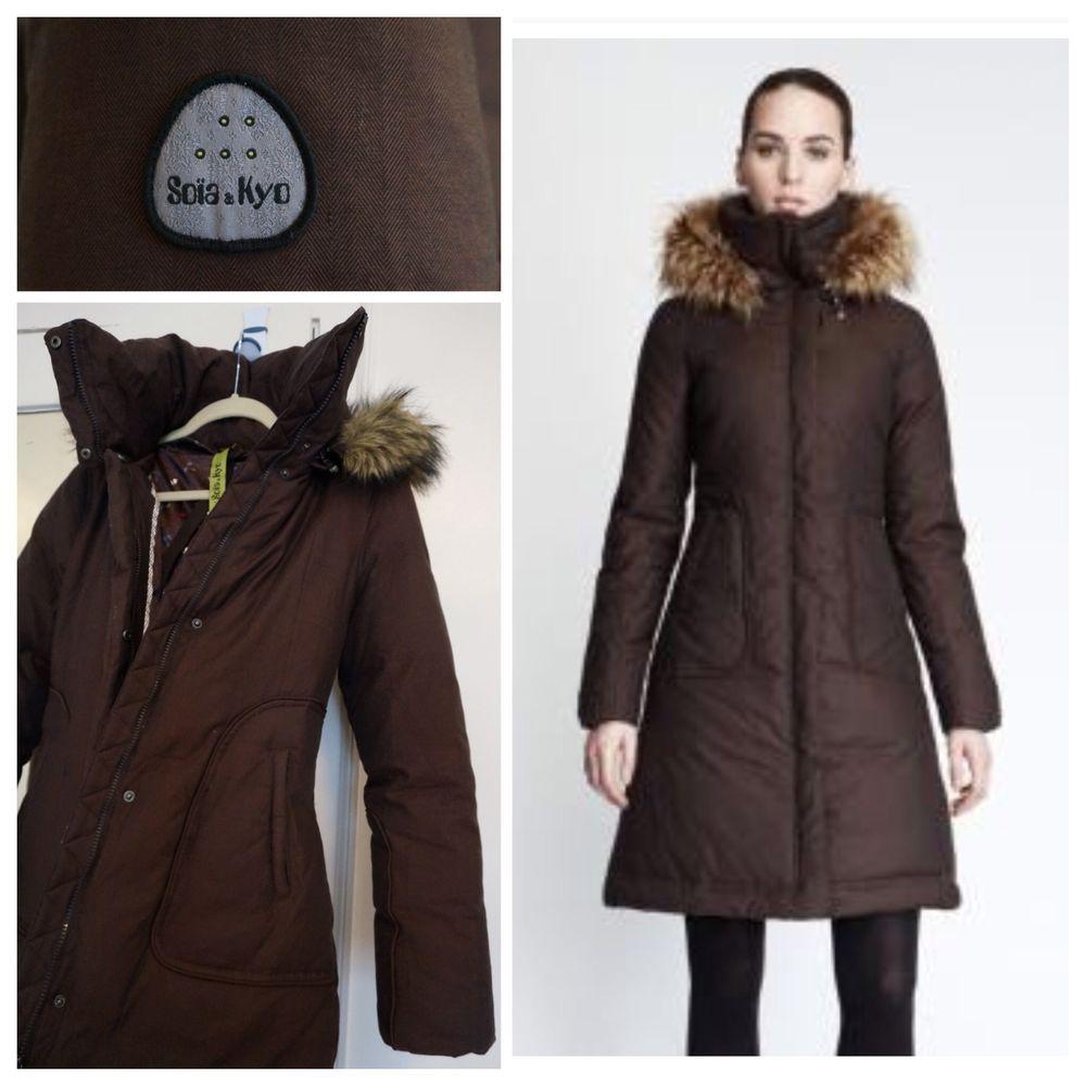 Soia Amp Kyo Puffer Down Coat Brown Medium Euc Jacket Winter