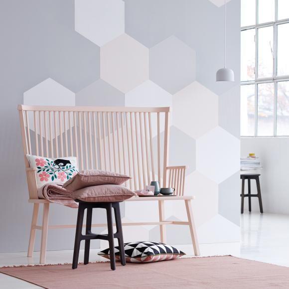 Wandmalerei Wohnzimmer Ideen: Wandgestaltung Und Deko In Zarten Farben