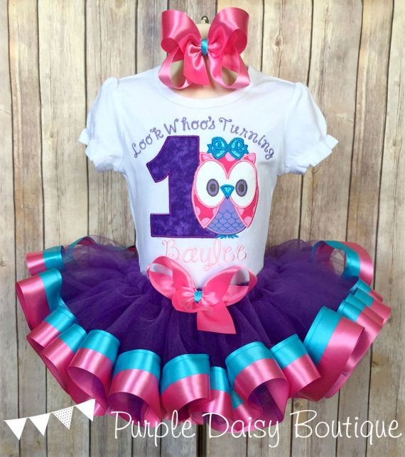 Look Whoo's Turning One Owl Theme First Birthday Double