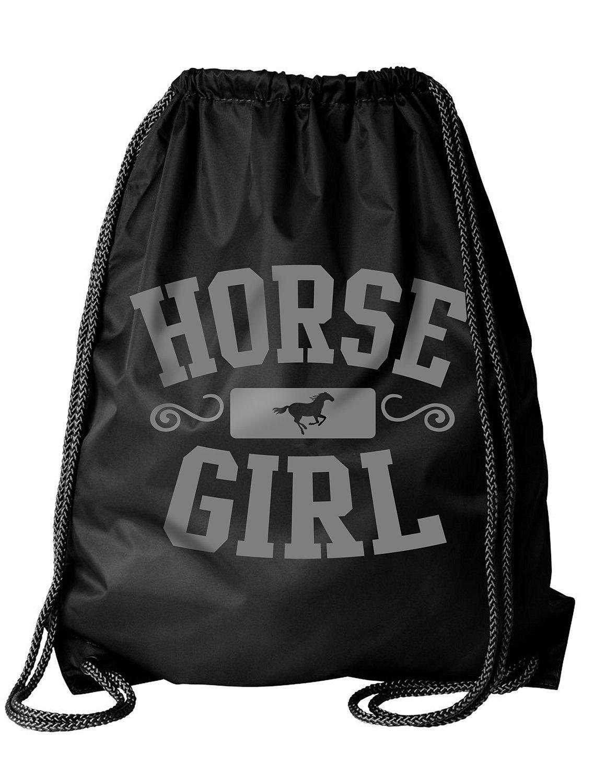 Activewear apparel equestrian drawstring bag