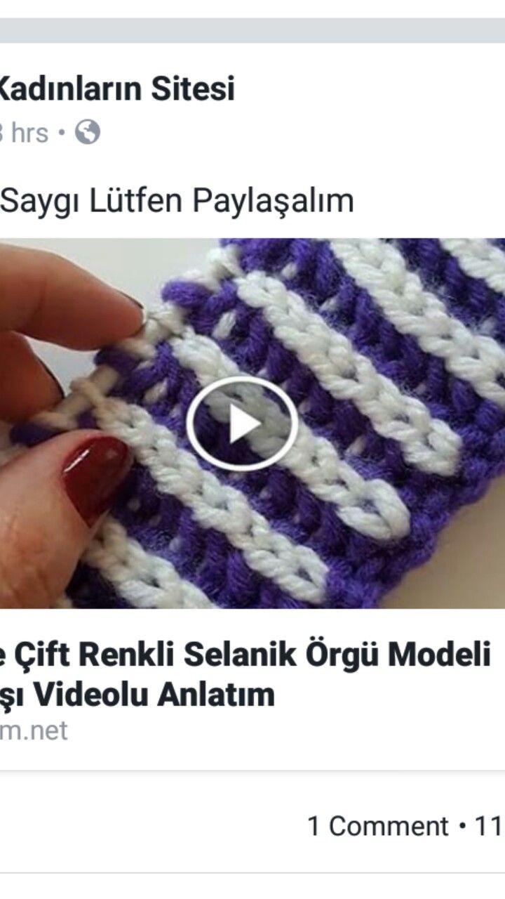 Tığ İşi Bere Selanik Modeli Yapılışı Türkçe Videolu