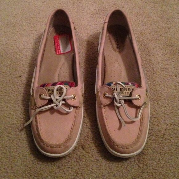 9978578a31 Pink Sperrys Excellent condition