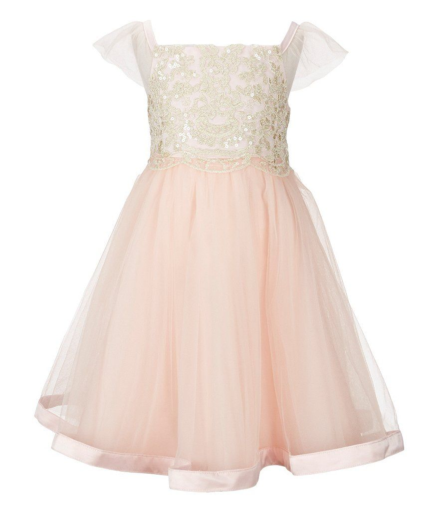 Rare Editions Little Girls 2T-6X Metallic-Bodice Ballerina Dress ...