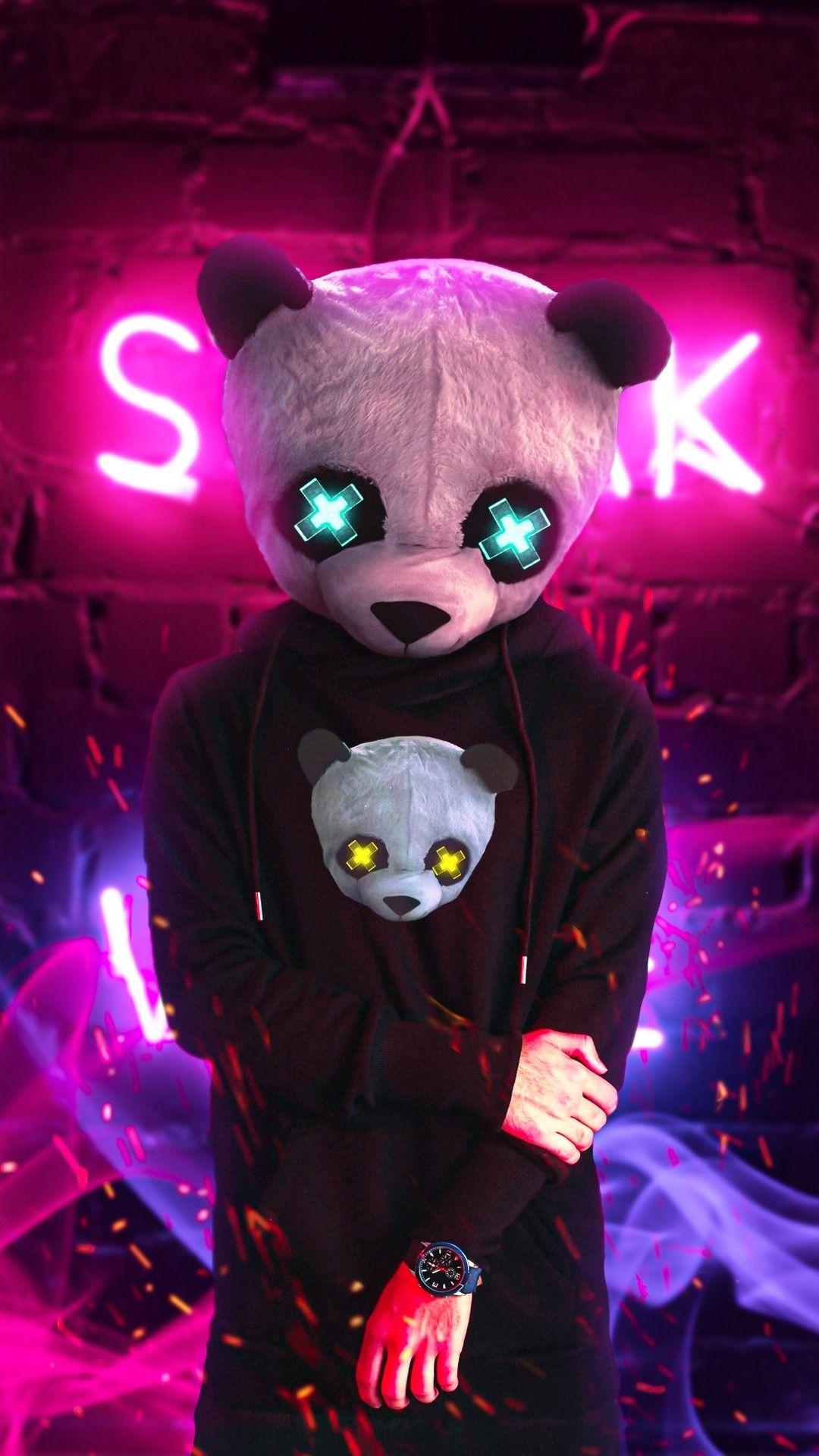 Ambar Bebe In 2020 Cute Panda Wallpaper Panda Art Wallpaper Iphone Neon