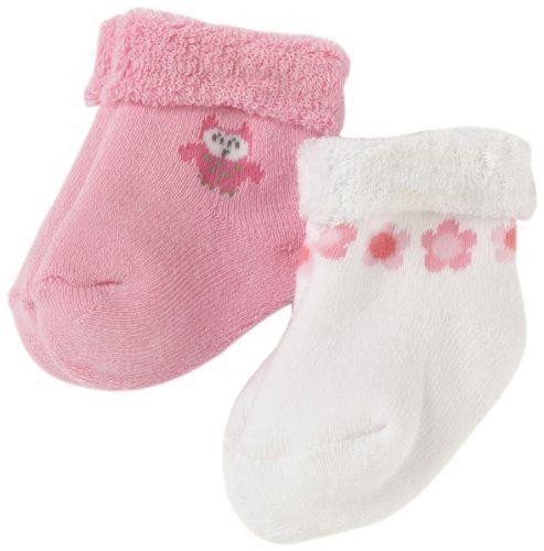 Gerber Baby Girls Newborn 2 Pack Terry Owl Sock Baby Girl