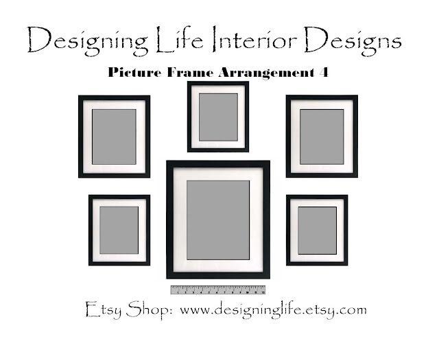 Six Picture Frame Arrangement Designs Picture Arrangements Frame Arrangement Picture Frame Arrangements