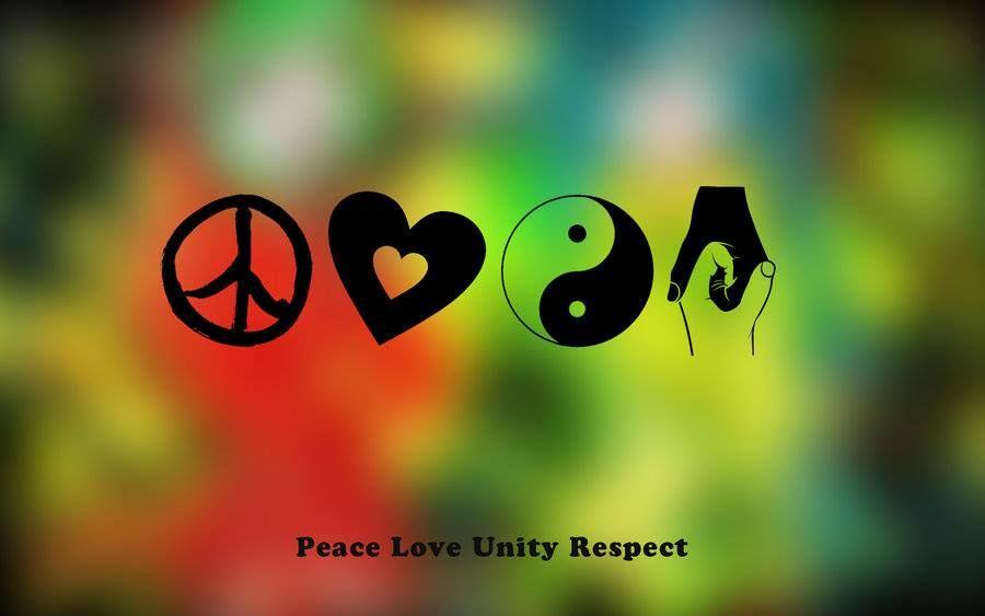 P L U R Peace Love Unity Respect Frieden Und Liebe