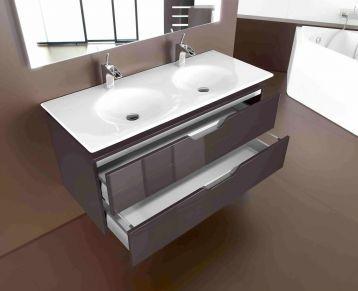 Roca Kalahari 1200mm Double Basin Furniture Unit Bathroom Units Bathroom Furniture Roca Bathroom