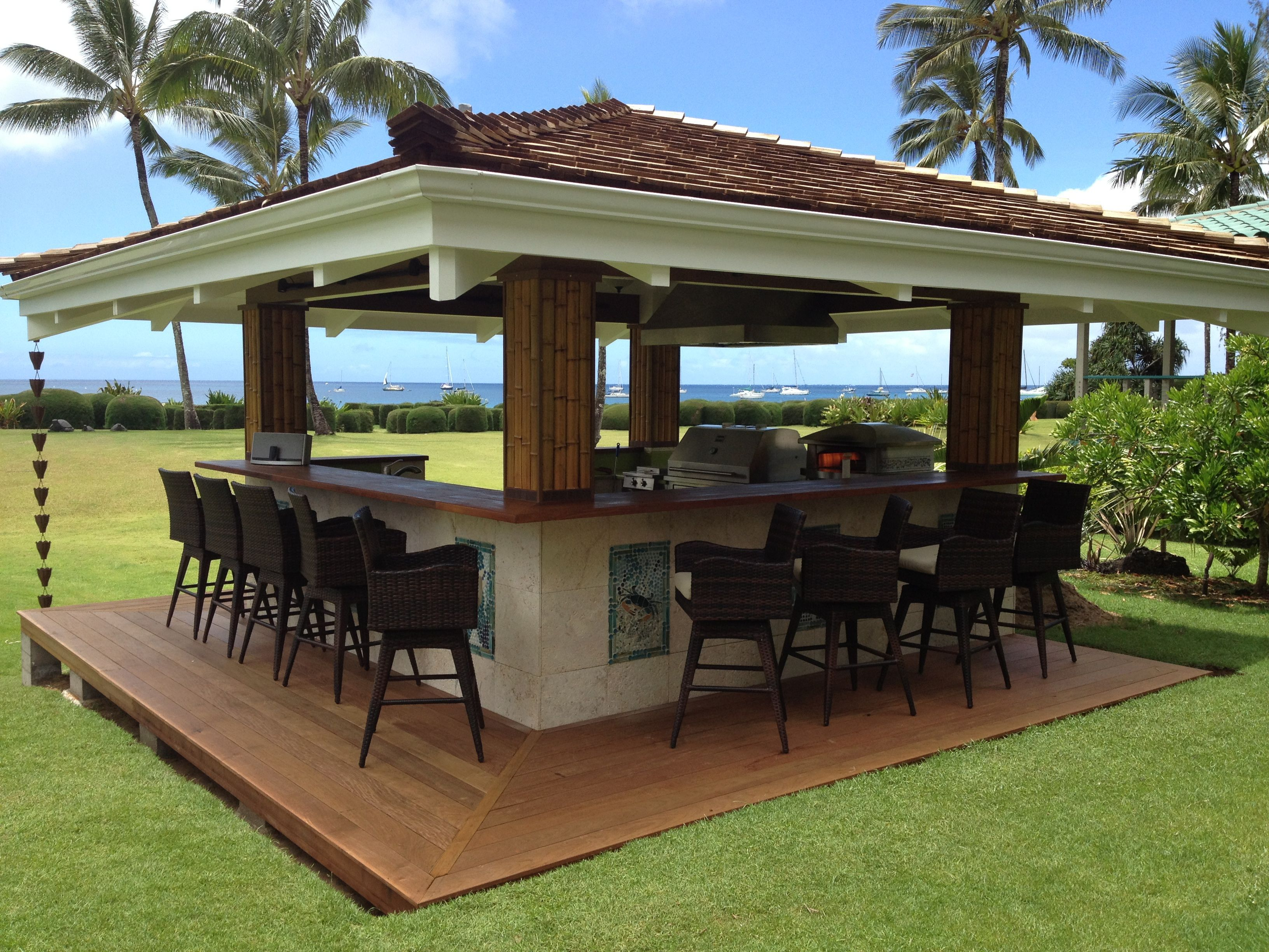 kalamazoo outdoor gourmet kitchen in hawaii outdoor outdoor kitchen design backyard patio on outdoor kitchen yard id=24699