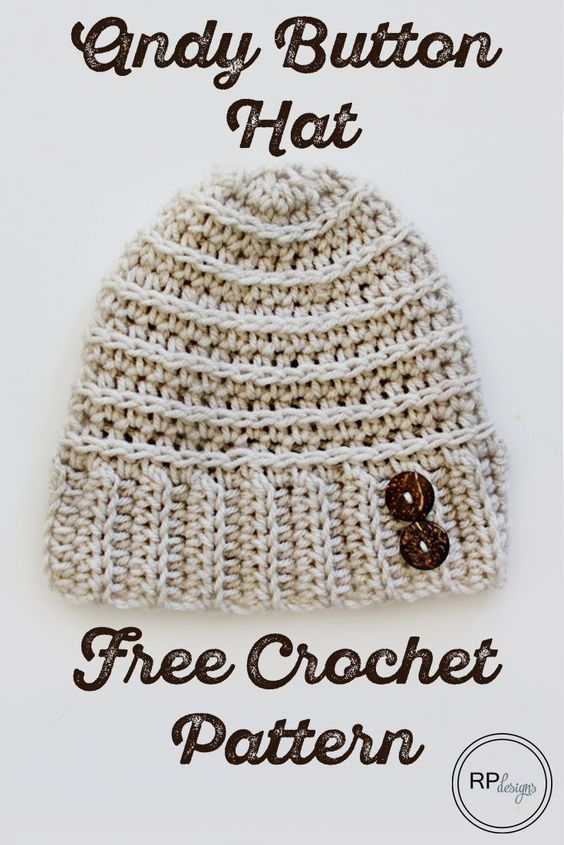 The Andy Button Hat - Free Crochet Pattern