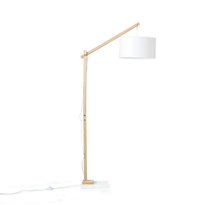 Petrus Lampadaire style scandinave en bois et tissu H180cm | projets ...