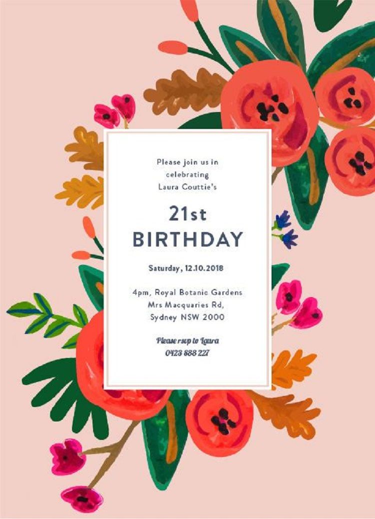 Happy Birthday Invitation Card With Name Gift