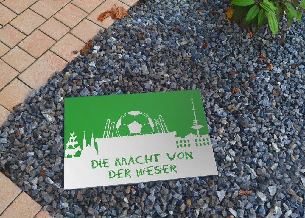 Werder Bremen Dekor Terrassenplatte Terrassenplatten Stelzlager Betonsteine