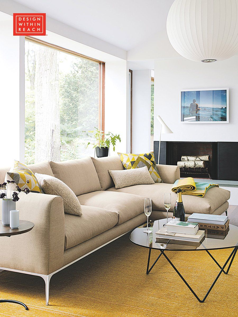 Jonas Sectional With Chaise Living Room Inspiration Sofa Design Furniture