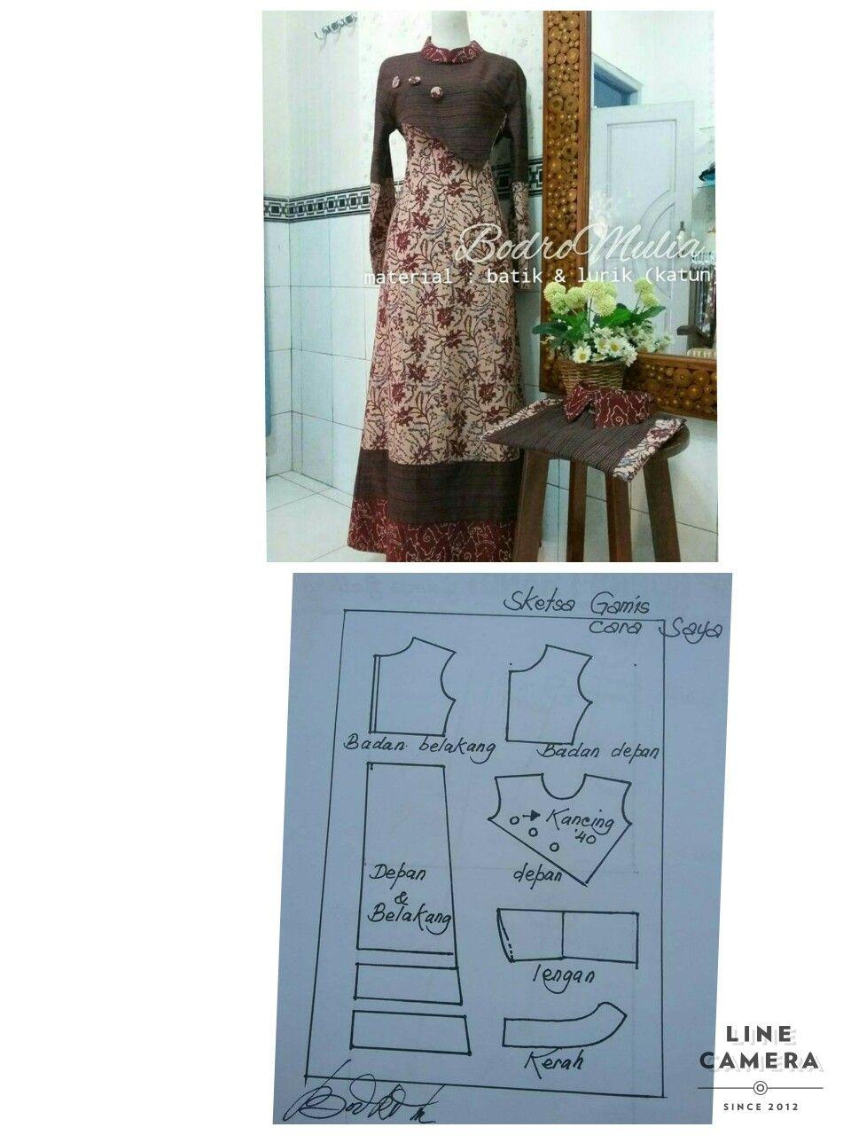 Pin oleh Lis Cantik di Sewing patterns  Pola jahitan, Pola gaun