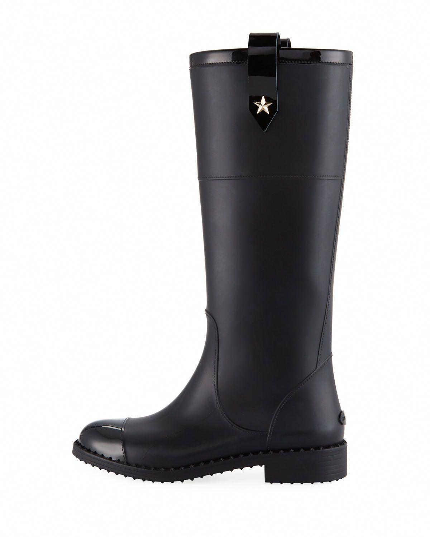 c1f80718bb Jimmy Choo Edith Rubber Knee-High Rain Boot #JimmyChoo | Jimmy Choo ...