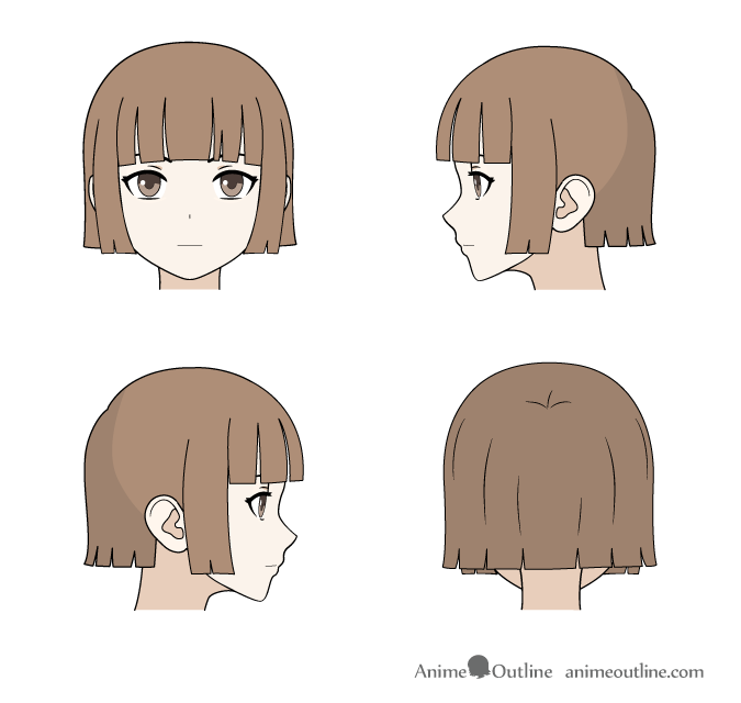 How To Draw Anime Manga Male Female Hair Animeoutline In 2020 Manga Hair Anime Guys Shirtless Anime Drawings