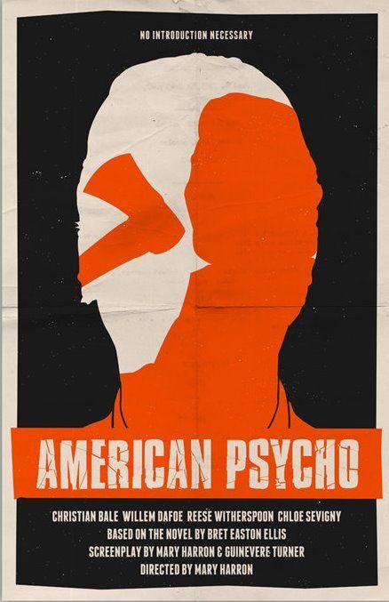 American Psycho (2000) - Minimal Movie Poster by Bill Pyle #minimalmovieposter #alternativemovieposter #billpyle