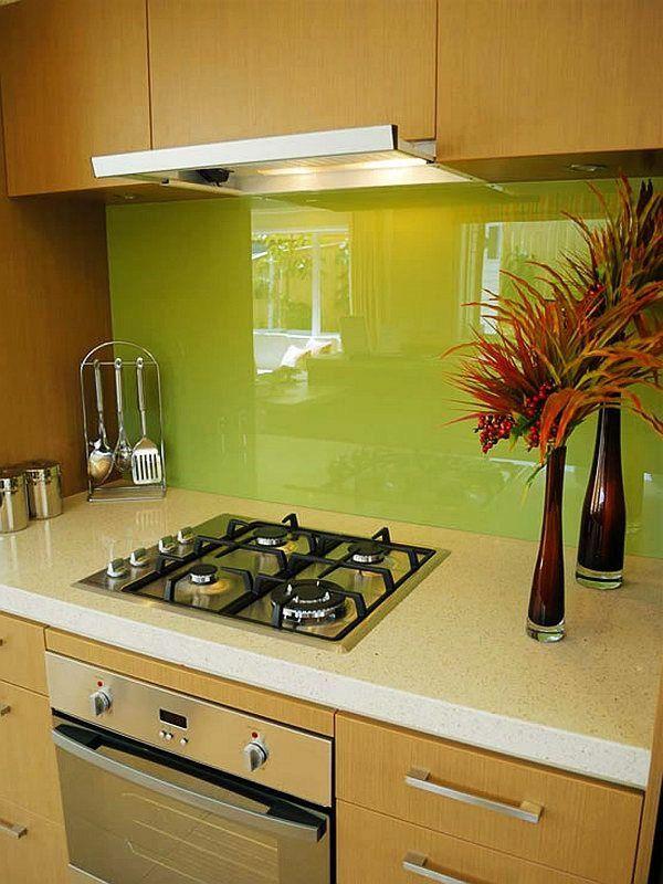 fliesenspiegel glaswand küche grün spritzschutz küche | wohnung ... - Fliesenspiegel Küche Plexiglas